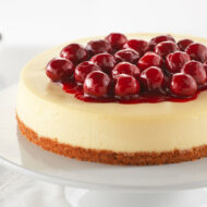 Home Made Cheesecake With Cherry Topping
