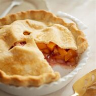 Home Made Peach Pie