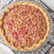 Home Made Rhubarb Custard Pie