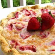 Home Made Strawberry Sour Cream Pie